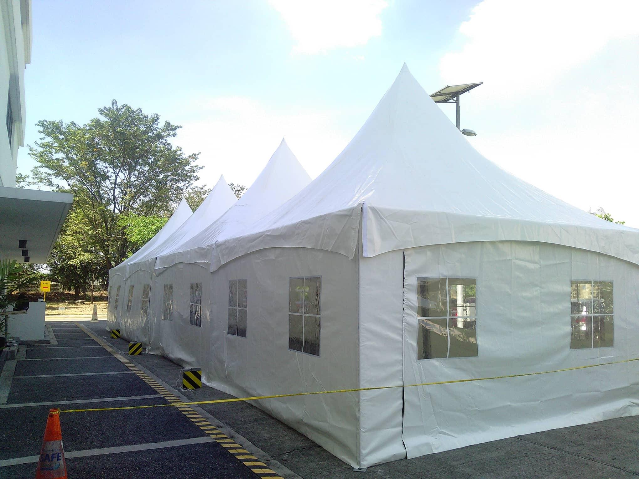 tent parking lot