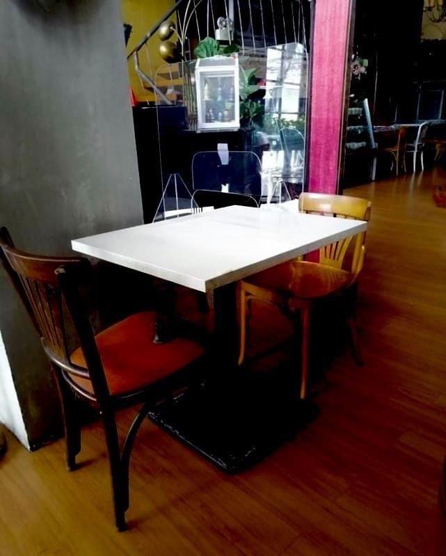 restaurant table-top acrylics